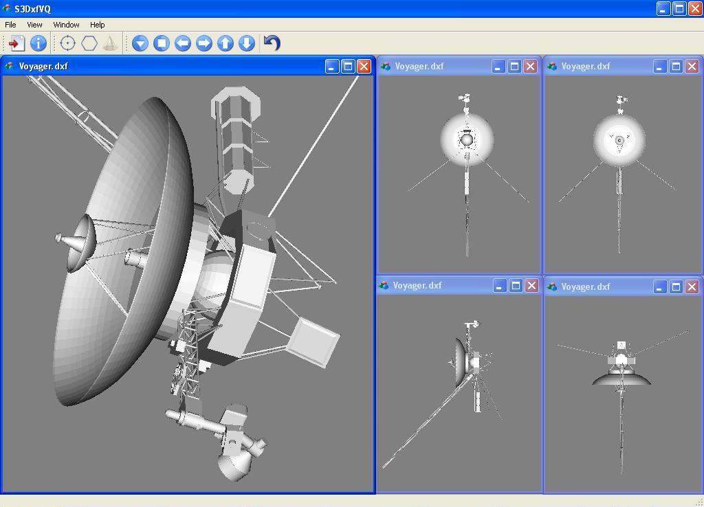 Відтворення векторного зображення космічного зонду Voyager програмою перегляду DXF-файлів S3DxfVQ v.2.1