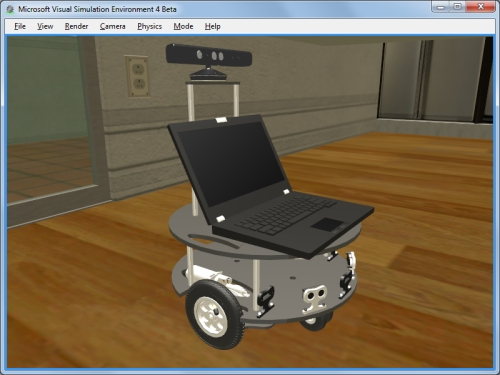 Screenshot of Microsoft Robotics Developer Studio